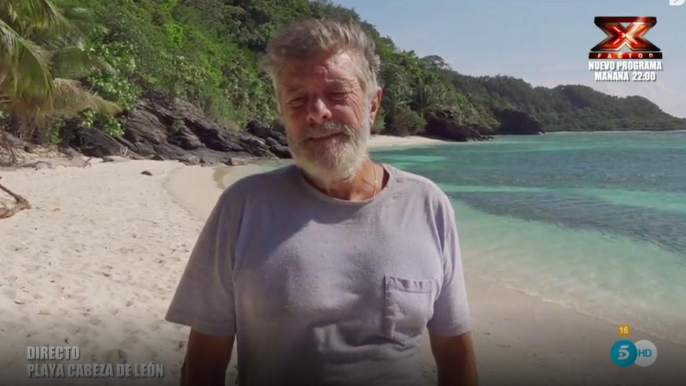 Francisco desde la playa Cabeza de León   Última hora Supervivientes