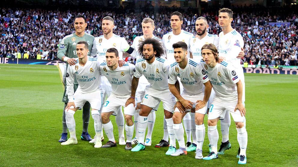 Once del Real Madrid ante el Bayern. (Foto: Enrique Falcón)   Real Madrid – Bayern