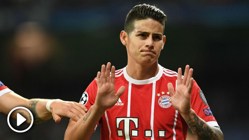 James Rodríguez pide perdón tras marcar en el Bernabéu. (AFP)