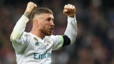Sergio Ramos celebra el pase del Real Madrid a la final de la Champions. (AFP)