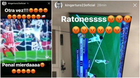 Los dos polémicos mensajes de Arturo Vidal. | Real Madrid – Bayern Múnich