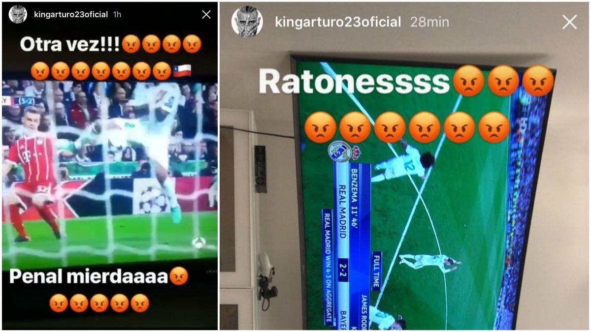 Los dos polémicos mensajes de Arturo Vidal.   Real Madrid – Bayern Múnich