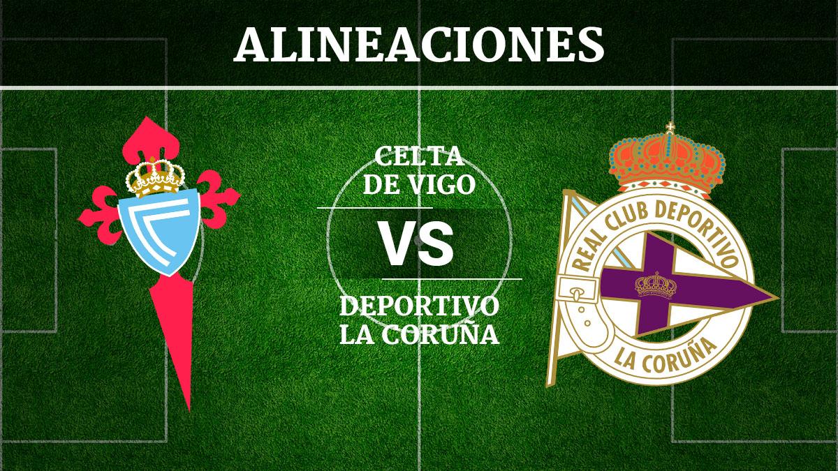 Consulta las posibles alineaciones del Celta de Vigo vs Deportivo de la Coruña.