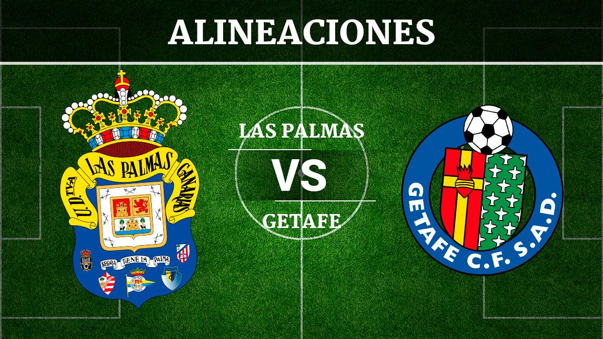 Consulta las posibles alineaciones del Las Palmas vs Getafe.