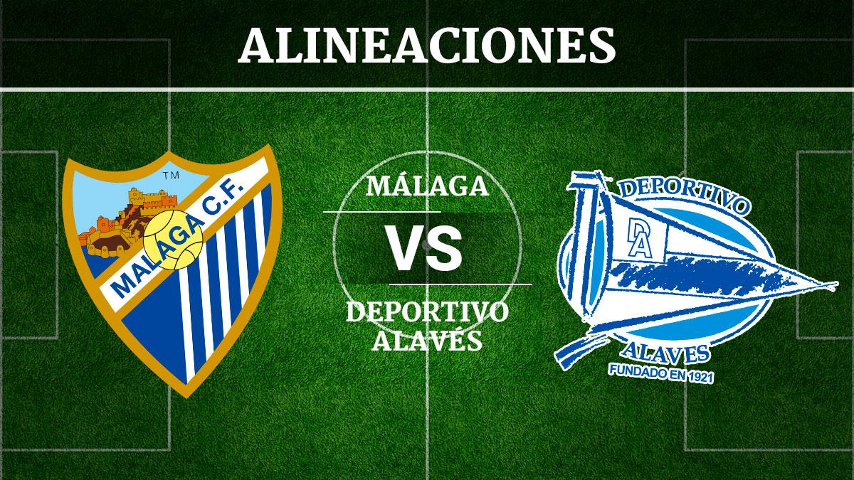 Consulta las posibles alineaciones del Málaga vs Alavés.