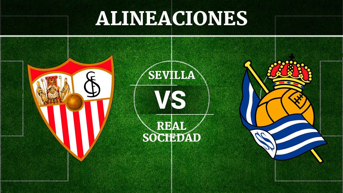 Consulta las posibles alineaciones del Sevilla vs Real Sociedad.