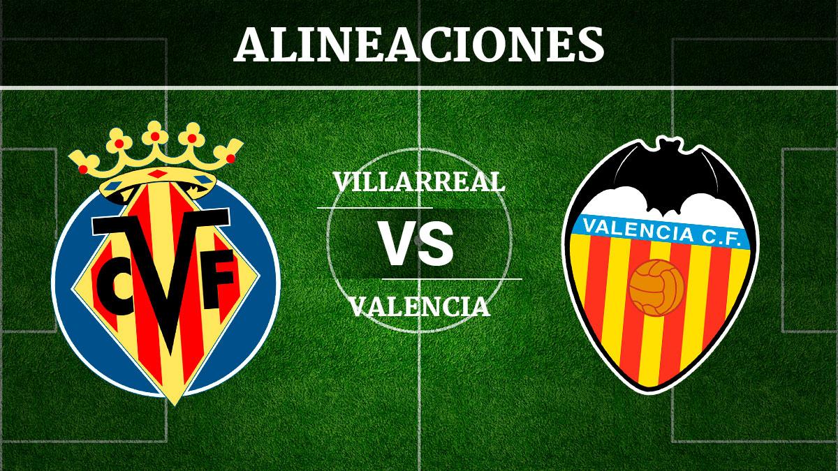 Consulta las posibles alineaciones del Villarreal vs Valencia.