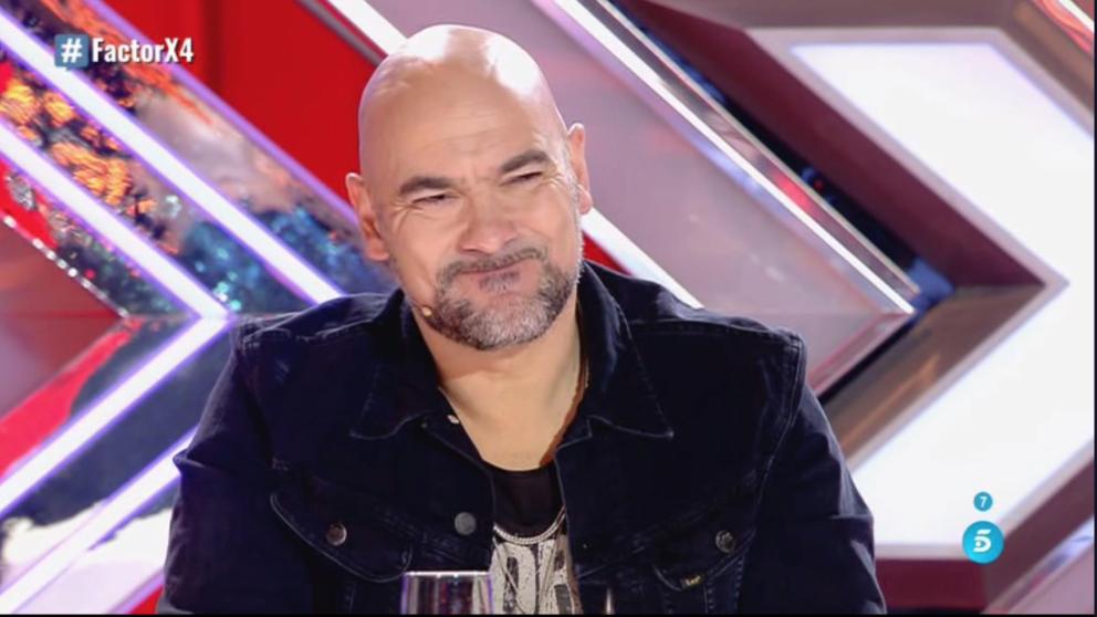 La cara de Montesinos al escuchar a Santiago en 'Factor X'.