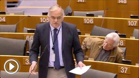 Esteban González Pons interpela a Federica Mogherini en el Parlamento Europeo.