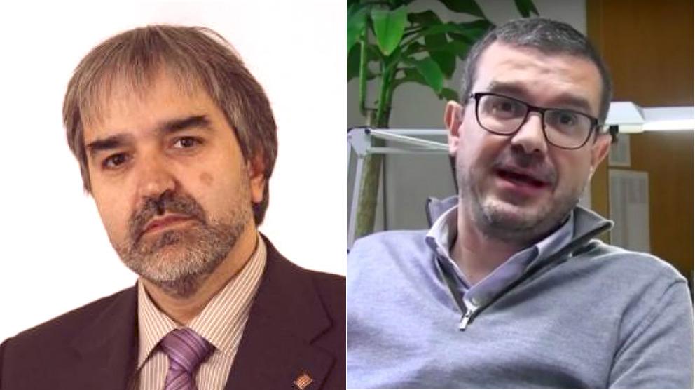 Joaquim Nin, secretario general de Presidencia de la Generalitat, y Jaume Clotet, deirector de Comunicación del Govern.