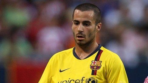 Marc Crosas, durante un encuentro amistoso con el Barcelona en 2008 (Getty)
