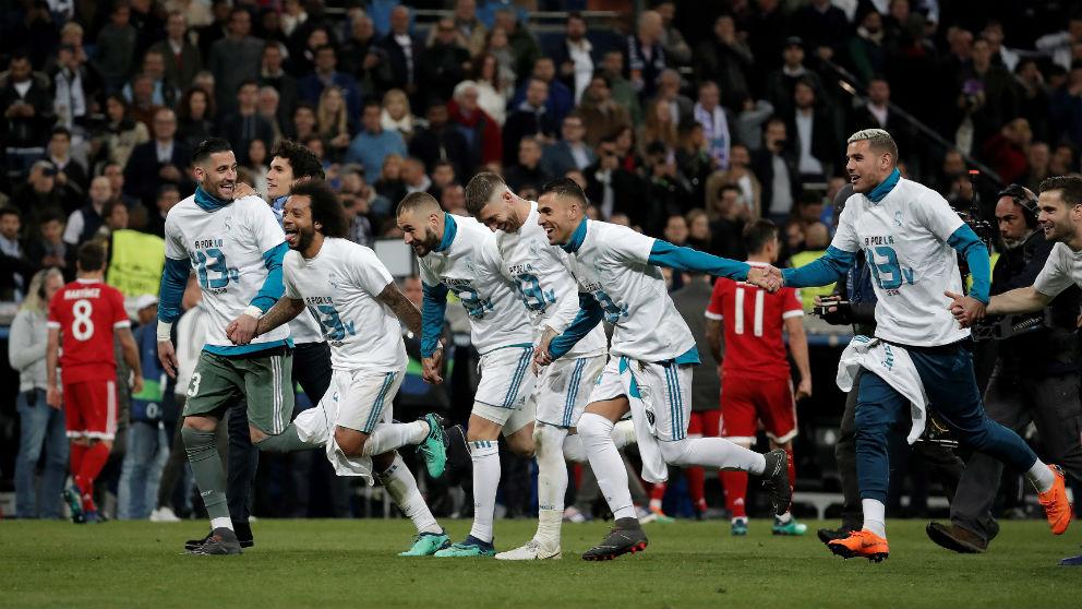 El Real Madrid celebra el pase a la final. (Getty)