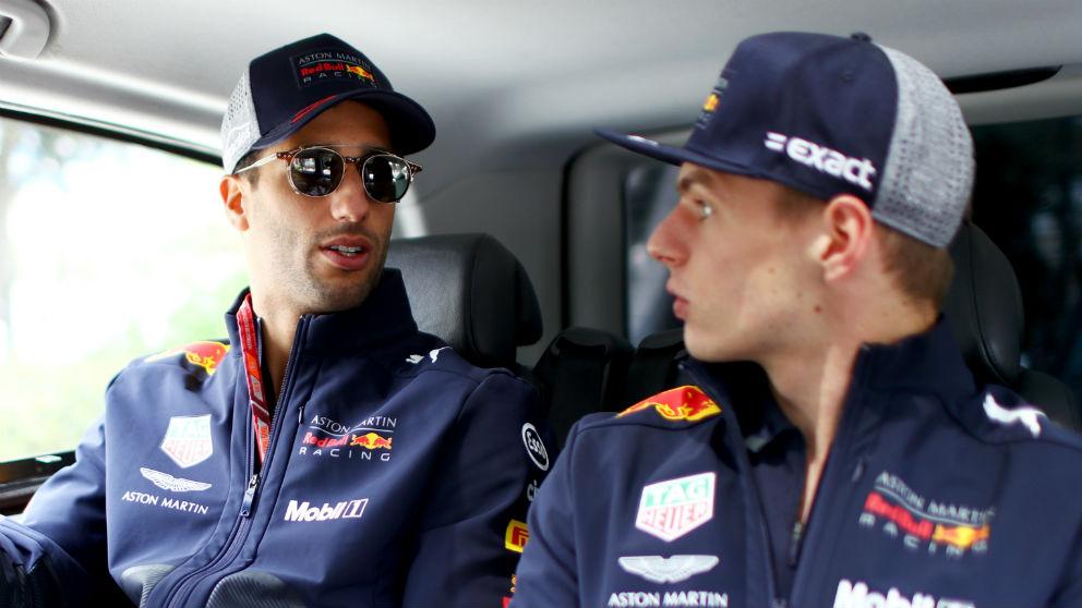 El accidente protagonizado en Bakú por Max Verstappen y Daniel Ricciardo ha hecho que Red Bull les dé un toque de atención a ambos para que tengan más cuidado cuando les toque pelear entre ellos. (Getty)