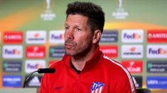 El Cholo Simeone durante la rueda de prensa. (Getty)