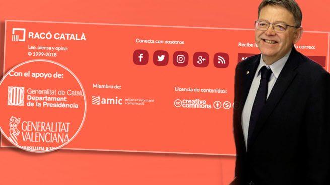 """Puig financia con 92.315 € un medio que llama """"escoria charnega"""" a Rivera y """"subnormal"""" a Albiol"""