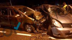 Imágenes del accidente del coche sin seguro de la diputada de Podemos, Julia Torregrosa.