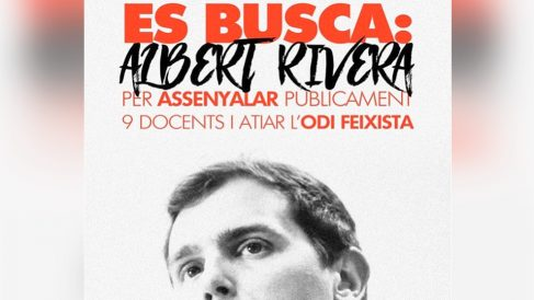 Cartel de Arran contra Albert Rivera