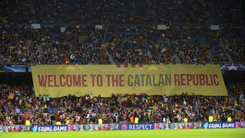 Una de las reivindicaciones que se han hecho en el Camp Nou. | Barcelona – Real Madrid | Clásico