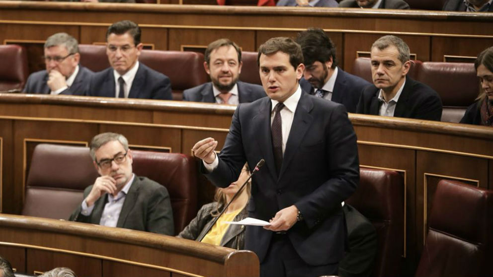 El líder de Ciudadanos, Albert Rivera, en el Congreso de los Diputados. (Foto: C's)