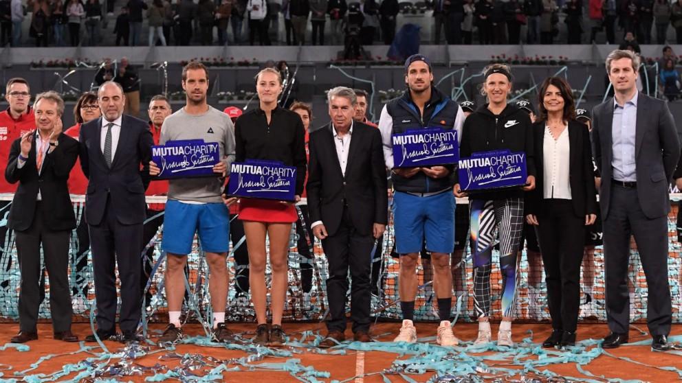El equipo de Feliciano López, campeón en el Mutua Charity Manolo Santana. (Mutua Madrid Open)
