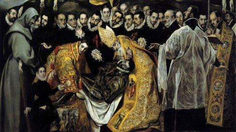Detalle de la pintura 'Entierro del Conde de Orgaz' de El Greco.
