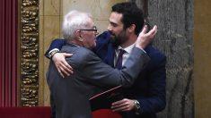 Ernest Maragall y Roger Torrent. (Foto: AFP) | Última hora Cataluña