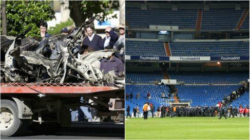 El coche que ETA hizo explotar en 2002 y el desalojo del Santiago Bernabéu en 2004.