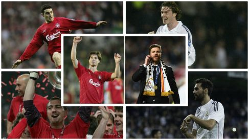 Los futbolistas que han jugado en el Real Madrid y el Liverpool. (Fotos: Getty Images/AFP)