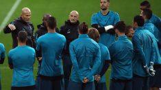 Zidane, en una charla con sus jugadores.