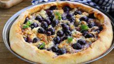 Receta de Pastel de uvas frescas fácil de preparar