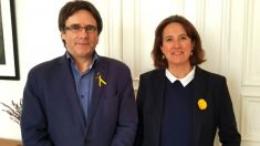 Carles Puigdemont y Elisenda Paluzie, presidenta de la ANC.
