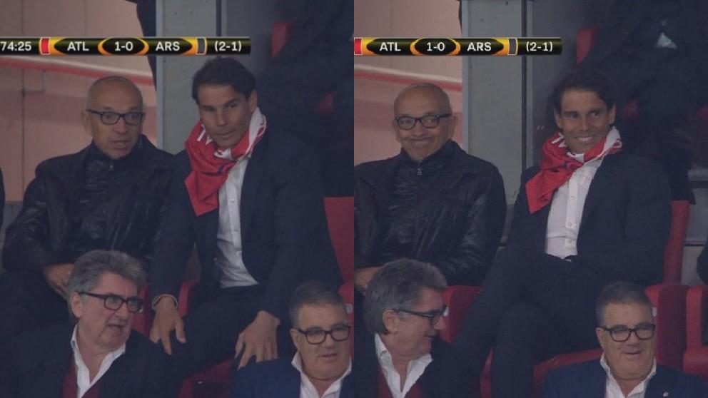 Rafael Nadal, en el Wanda Metropolitano.