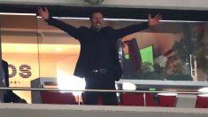 Simeone celebra el pase a la final de la Europa League. (Getty)
