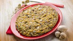 Receta de tortilla de patatas con trufa y champiñones
