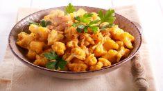 Receta de coliflor al curry fácil de preparar