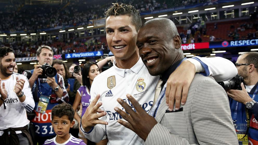 Cristiano Ronaldo celebra su cuarta Champions conquistada en Cardiff con Seedorf. (Getty)