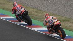 Andrea Dovizioso y Marc Márquez han comenzado dominando la primera sesión de entrenamientos libres del Gran Premio de España de MotoGP. (Getty)