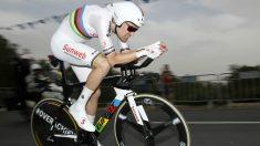 Tom Dumoulin, campeón del mundo contrarreloj y líder del Giro de Italia. (AFP)