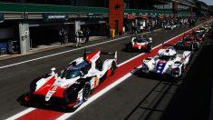 El coche de Fernando Alonso antes de iniciar los entrenamientos en Spa. (Getty)