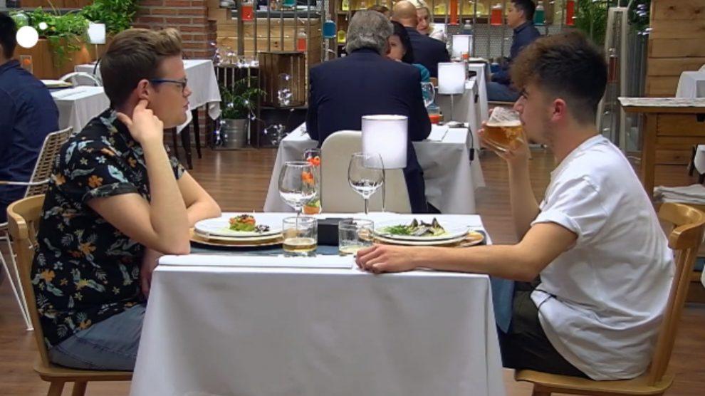 Manuel e Iván en 'First Dates'