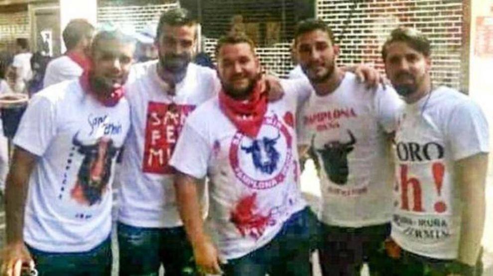 Los cinco amigos de 'la Manada'.   La Manada