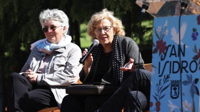 Montse Galcerán, edil de Moncloa-Aravaca, y Manuela Carmena. (Foto. Madrid)