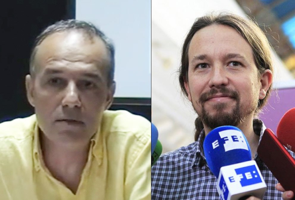 Josep Lluís del Alcázar y Pablo Iglesias.