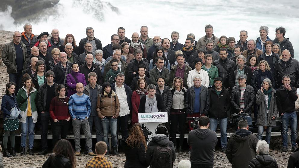 Acto de Sortu en San Sebastián. (Foto: EFE)