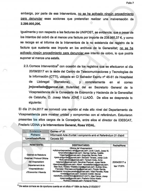 La Policía ridiculiza a Montoro: la interventora de la Generalitat ocultó la malversación de 3 millones