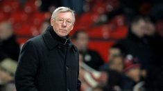 Ferguson durante un partido con el United. (AFP)