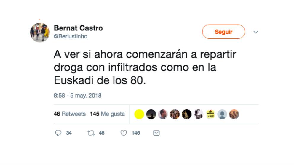 'Tuit' de Bernat Castro.