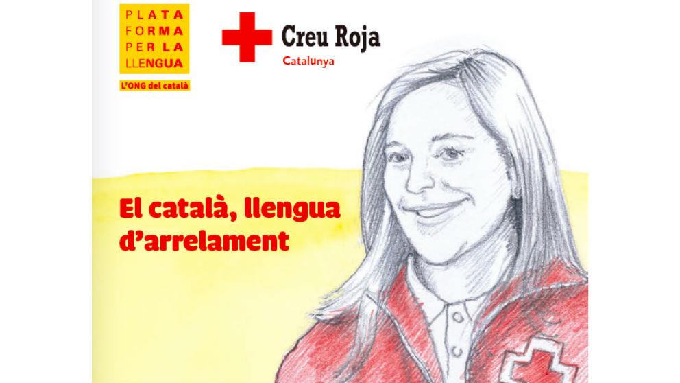Folleto 'El catalán, lengua de arraigo', de Cruz Roja.