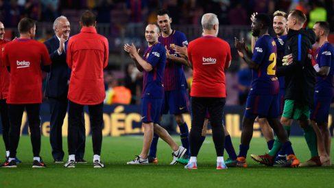Andrés Iniesta, tras su último Clásico. (Getty)