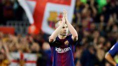El Barcelona Real Sociedad será el último partido de Iniesta con el Barça. (EFE).